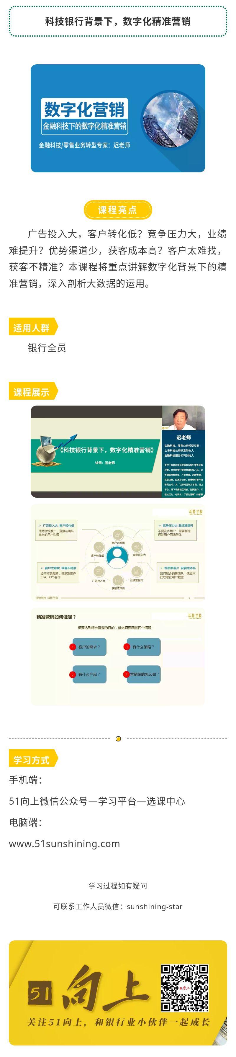 课程简介-科技银行背景下,数字化精准营销